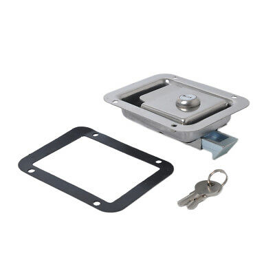 Marine Stainless Steel Paddle Latch Truck Trailer Tool Box Lock Latch & Key