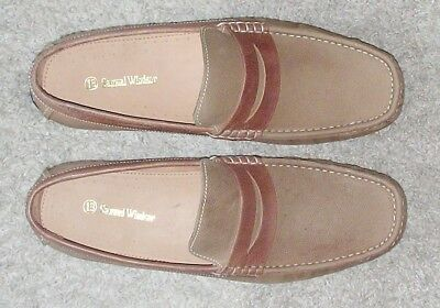 Mens Samuel Windsor Classic Leather  Driving Shoes - Size 13 - Brown - New!!!