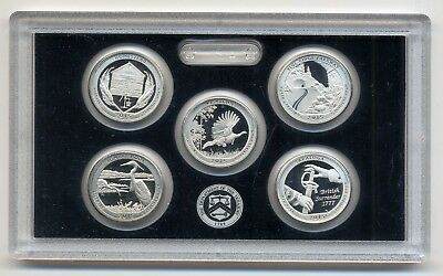 USA United States Mint  America the Beautiful quarters Silver Proof Set 2015 PP