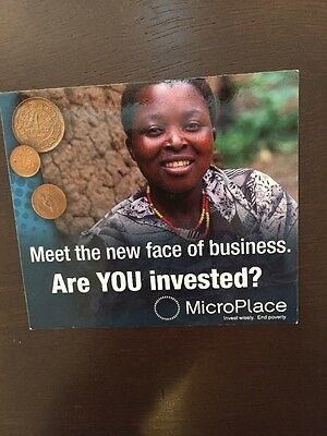 MicroPlace Magnet Invest Wisely End Poverty Used 100% for charity