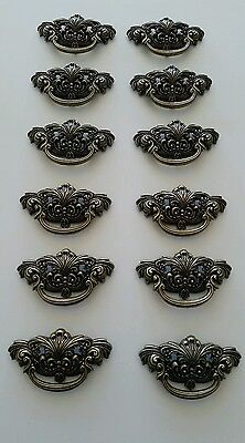 Set Of 12 Vintage Look Cast Metal Drawer Pulls Handles 3 Inch Center To Center