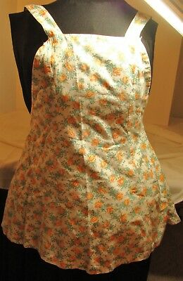 Vintage Womens or Childs Bib Apron County fair exhibit ,flour sack fabric
