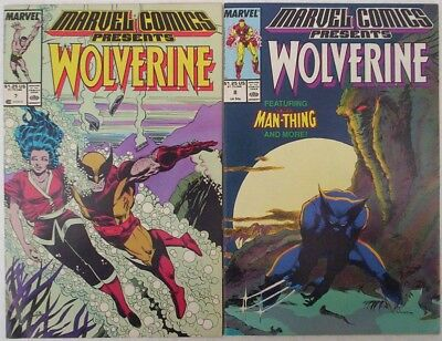 """1988. TWO x Marvel comics Presents """"WOLVERINE"""". Vol.1. #'s 7 and 8. Fine."""