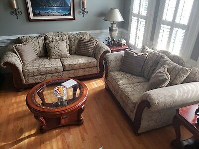 Awesome Used Living Room Set Couch Loveseat Chair Chaise Andrewgaddart Wooden Chair Designs For Living Room Andrewgaddartcom