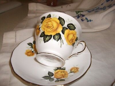Royal Vale Vintage Yellow Roses Cup & Saucer
