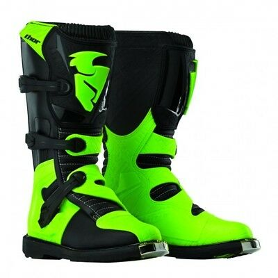 Blitz s5 offroad boots black/green 15 - Thor 3410-1450