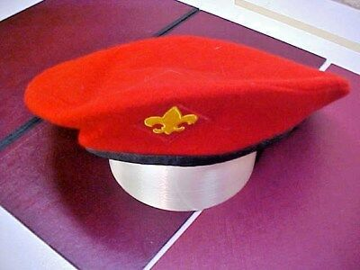 Official Boy Scout Red wool Beret - X-Large