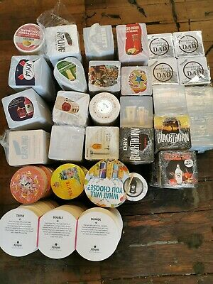Joblot:  26 Different Designs And Approx 2,400  mixed Beer mats