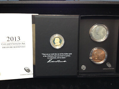 2013 Coin & Chronicles Set Theodore Roosevelt With Box & COA