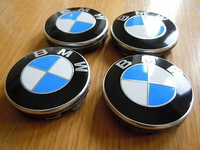 BMW X3 Models - 68mm Wheel Centre Caps - Blue and White