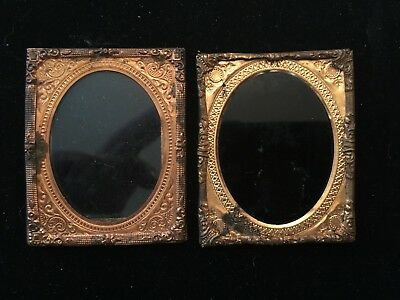 Pair of Antique Tintype Ornate Picture Frame
