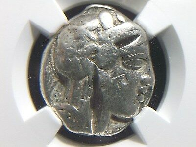 Greek Silver Tetradrachm from Attica Athens, 480-404 BC NGC Certified  4005