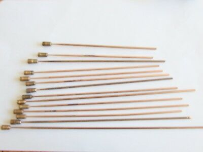 Clock parts. 14 bronze chime rods for clockmaker. Spares, parts