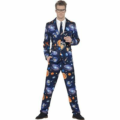 Space Planet Print Stand Out Suit Sci Fi Adults Mens Fancy Dress Costume