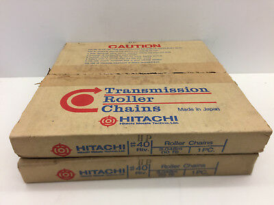 Lot Of 2 Hitachi Transmission Roller Chains 40 Riv 10 Ft