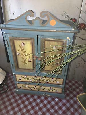 (C) Vintage Small blue cabinet
