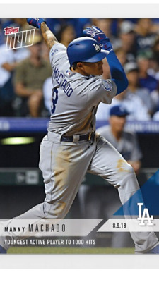 2018 Topps Now Card La Dodgers Manny Machado #581 Young Active Player 1000 Hits