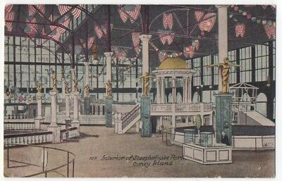 1912~INTERIOR STEEPLECHASE PARK~Coney Island~Brooklyn,NY~AMUESMENT PARK