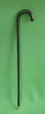 Black Lacquered Bentwood Walking Cane