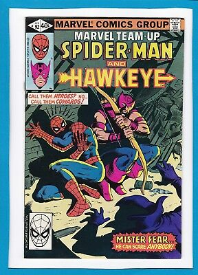 Marvel Team-Up #92_April 1980_Fine_Spider-Man_Hawkeye_Mister Fear_Bronze Age!