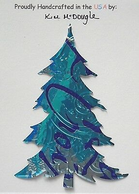 Tree Christmas Tree Ornament Handmade Recycled Aluminum Metal Pure Water Can