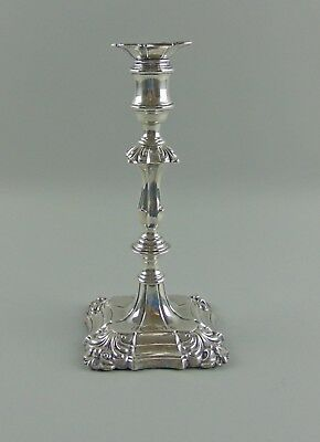 """Georgian Sterling Silver Weighted Single Light 9""""Candlestick 1832 Sheffield KW&C"""