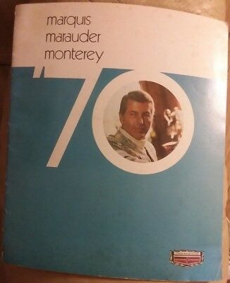 Big 1970 Mercury MARQUIS / MARAUDER / MONTEREY Brochure / Catalog: X-100,Custom