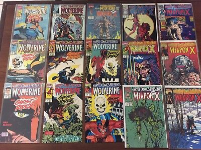 HUGE Lot of 39 MARVEL COMICS PRESENTS Comic Books by Marvel WOLVERINE MORE!