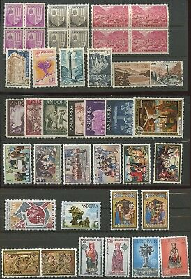 Andorre Andorra Collection of Used & Mint/Hinged Stamps