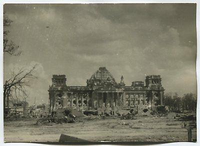 Wwii Large Size Press Photo: Ruined Reichstag, Berlin, May 1945