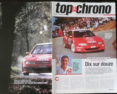 Magazine CITROEN SPORT officiel Top Chrono N°23 Dec-1999 Xsara saison 99 +Poster