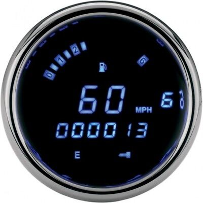 Speedometer/tachometer 3200 series 3 3/8 black blue - Dakota digital MCL-3212-K
