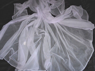 Traum Nylon Perlon transparent Negligee mantel USA 480 Saum