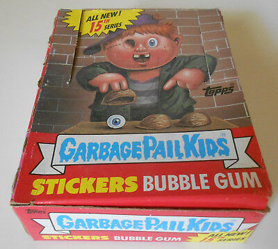 8 TOPPS boxes with over 300 GARBAGE PAIL KIDS wrappers, no cards