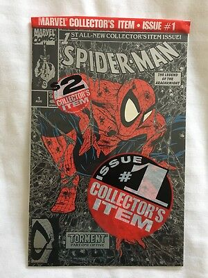 "Spider-Man #1 NM ""Torment"" McFarlane Cover (Silver Bagged Variant) 1990 unread"