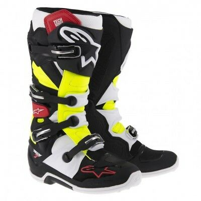 Bottes cross tech 7 black/red/yellow - taille 51 Alpinestars 2012014-136-15