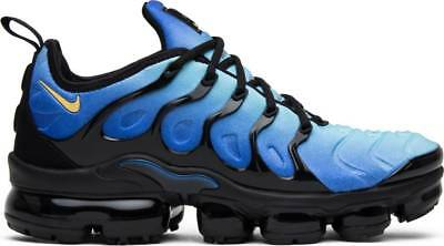 4e82e9195861e NIKE AIR VAPORMAX Plus Original Fade Black Hyper Blue Yellow 924453 ...