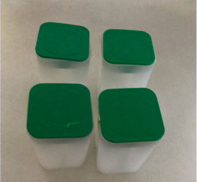 Empty American Silver Eagle Tubes, Lot of 4, Green Lid, No Coins
