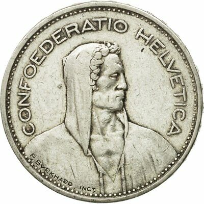 [#651225] Coin, Switzerland, 5 Francs, 1940, Bern, AU(50-53), Silver, KM:40