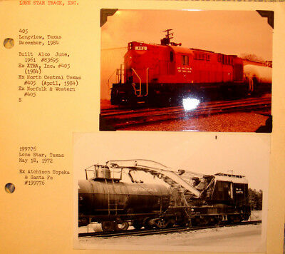 LONE STAR TRACK of FT. WORTH TEXAS: ALCO ROAD SWITCHER 405 & EX-ATSF WRECK CRANE