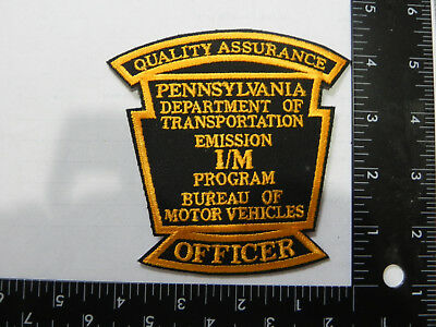 Police Patch---Pennsylvania D.o.t. Emission Officer