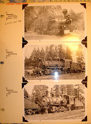 3-Long Bell Lumber Of California Steam Locomotive Photos 2-1939/1 Shay 1957/rare