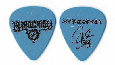 Hypocrisy black on blue Guitar Pick