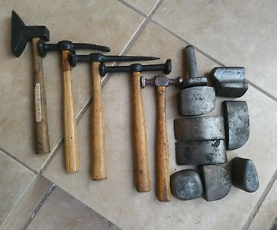 Vintage Mtm Auto Repair Tools Hammers Dollies Mtm