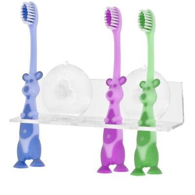 Promobo - Support Porte Brosse A Dents Mural Ventouse 5 Emplacements