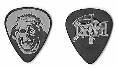 Death silver on black Guitar Pick