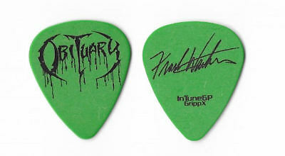 Obituary black on green Guitar Pick