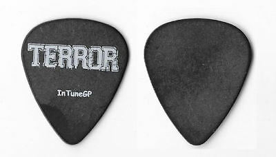 Terror white on black Guitar Pick