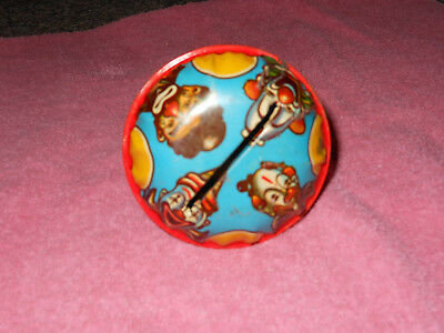 Vintage Halloween creepy clowns rattle made in the USA.