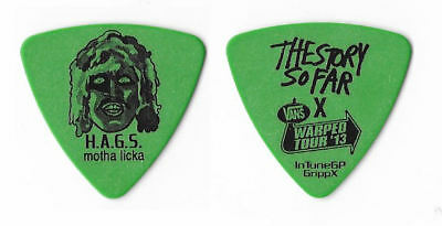 The Story So Far black on green Guitar Pick